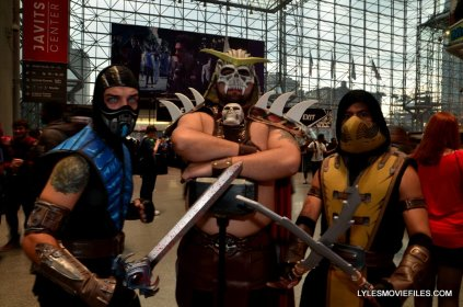New York Comic Con cosplay - Sub-Zero, Shao Khan and Scorpion
