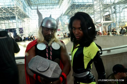 New York Comic Con cosplay - Thor and Silk Spectre