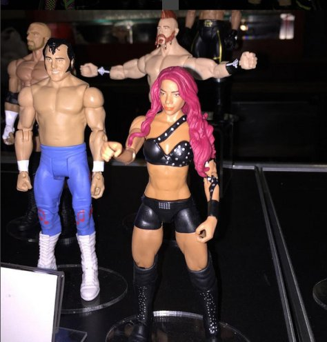 WWE Ringside Fest Mattel Sasha Banks, Honky Tonk Man and Sheamus