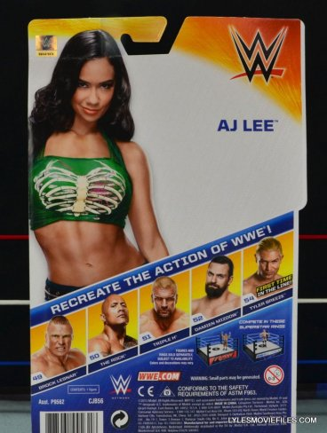 WWE Mattel Basic AJ Lee - back package2