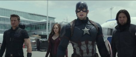 """""""Captain America Civil War"""" - Hawkeye, Scarlet Witch, Captain America and Bucky"""