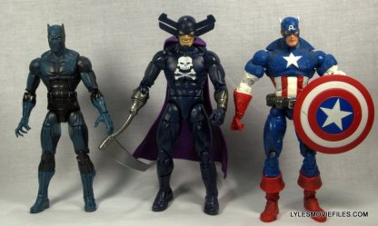 Marvel Legends Grim Reaper - scale with Black Panther and Captain America