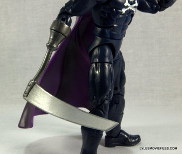 Marvel Legends Grim Reaper - scythe close up