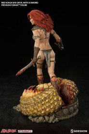 Red Sonja - She Devil with a Sword premium format -rear left side