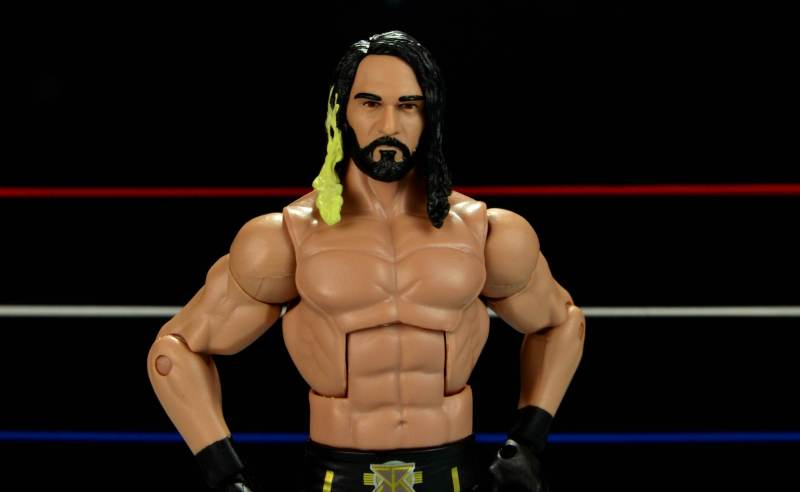 Seth Rollins Mattel exclusive -close up