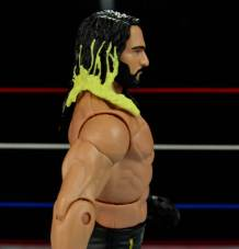 Seth Rollins Mattel exclusive -right side close up
