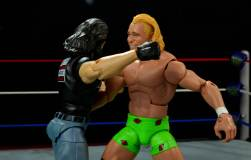 WWE Mattel APA -Bradshaw clothesline from hell on Billy Gunn