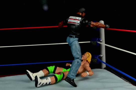 WWE Mattel APA -Farooq beats down Mr Ass