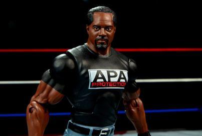 WWE Mattel APA -Farooq close up