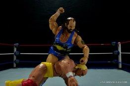 WWE Mattel Earthquake -beating down Hulk Hogan