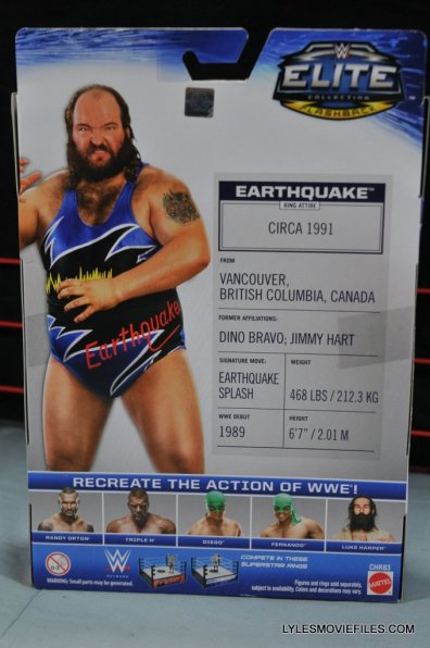 WWE Mattel Earthquake -rear package
