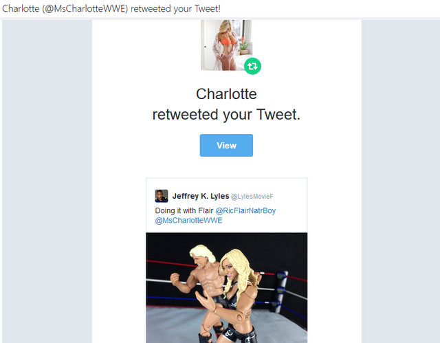 WWE Charlotte retweet