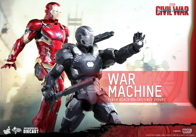 Captain America Civil War - War Machine -with Iron Man