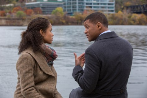 "Gugu Mbatha-Raw and Will Smith star in Columbia Pictures' ""Concussion."""