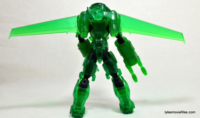 DC Icons Green Lantern figure review -armor construct rear
