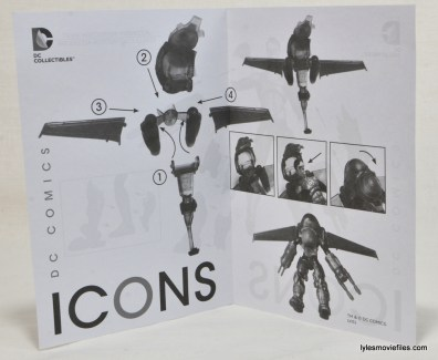 DC Icons Green Lantern figure review -instructions 2
