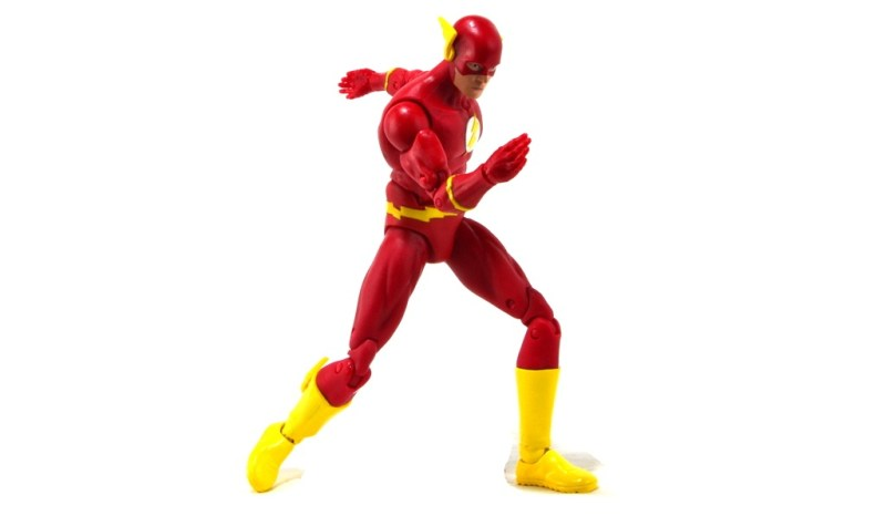 DC Icons The Flash figure review -on pure white backdrop