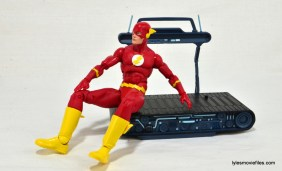 DC Icons The Flash figure review -sitting on the treadmill