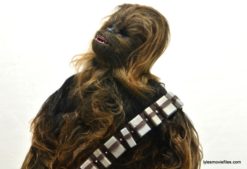 Hot Toys Han Solo and Chewbacca review -Chewbacca growl