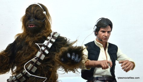 Hot Toys Han Solo and Chewbacca review -Han and Chewie in the cockpit