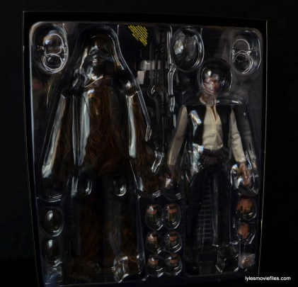 Hot Toys Han Solo and Chewbacca review -in package
