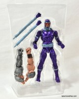 Machine Man Marvel Legends figure review - inner tray