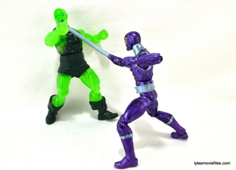 Machine Man Marvel Legends figure review - Machine Man vs Radioactive Man