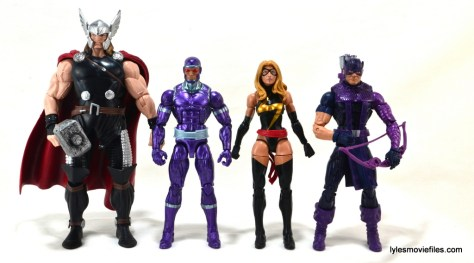 Machine Man Marvel Legends figure review - Thor, Machine Man, Ms. Marvel and Hawkeye