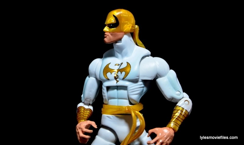 Marvel Legends Iron Fist figure review - heroic pose