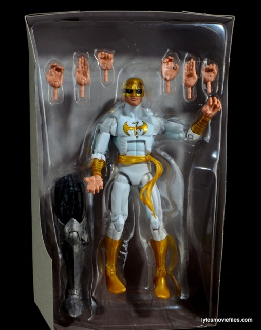 Marvel Legends Iron Fist figure review -in tray