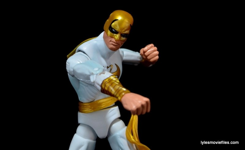Marvel Legends Iron Fist figure review -punching