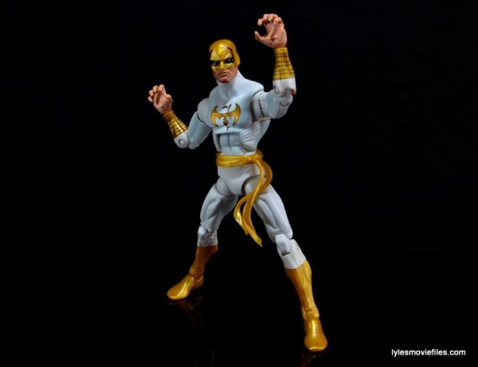 Marvel Legends Iron Fist figure review -wider stance
