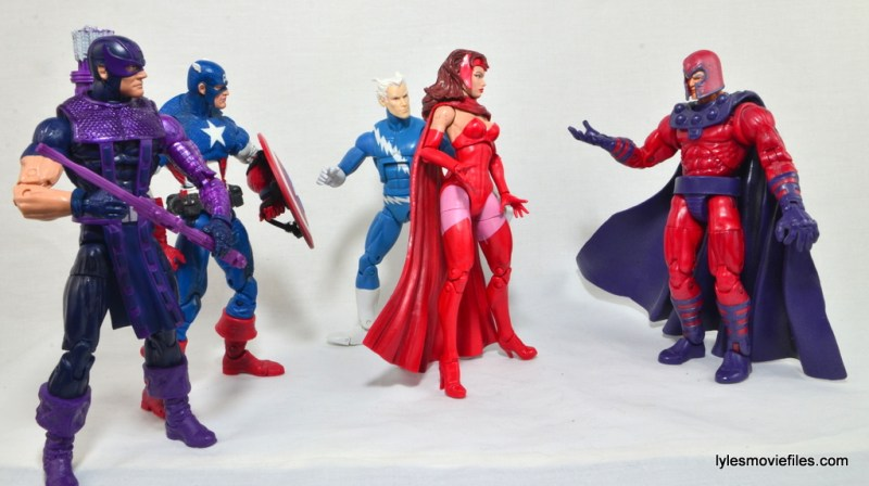 Marvel Legends Scarlet Witch figure review - Hawkeye, Captain America, Quicksilver, Scarlet Witch and Magento