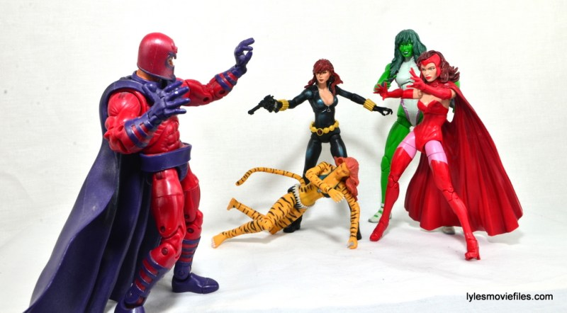 Marvel Legends Scarlet Witch figure review - Magento vs Black Widow,Tigra, She-Hulk and Scarlet Witch
