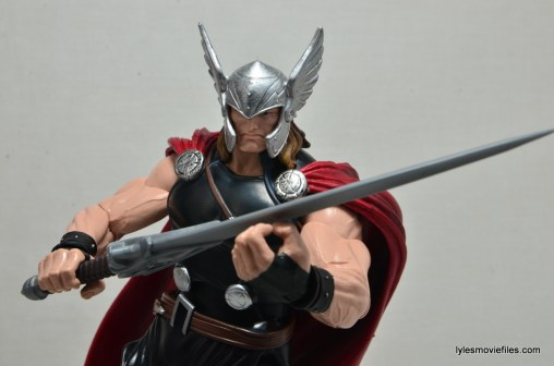 Marvel Legends Thor figure review -holding broadsword
