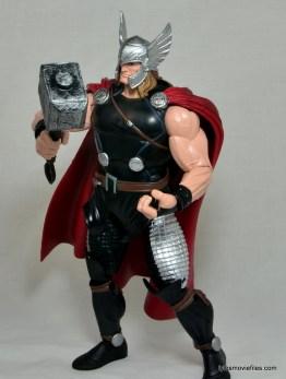 Marvel Legends Thor figure review -lifting Mjolnir