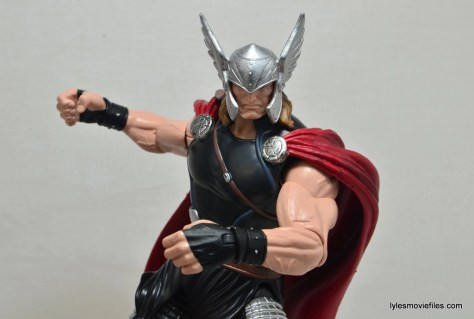 Marvel Legends Thor figure review -turning close up
