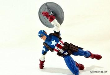 Marvel Legends three-pack Ms. Marvel, Captain America and Radioactive Man -Cap raising shield