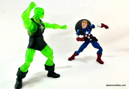 Marvel Legends three-pack Ms. Marvel, Captain America and Radioactive Man -Radioactive Man vs Cap