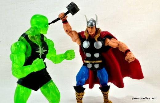 Marvel Legends three-pack Ms. Marvel, Captain America and Radioactive Man -Radioactive Man vs Thor
