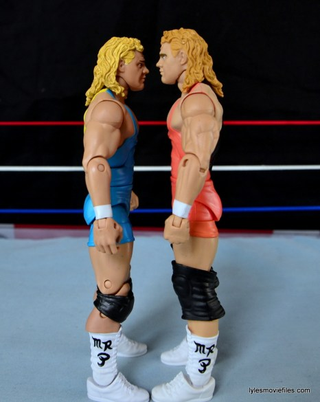 Mattel WWE Heenan Family set action figures review -Mr Perfect scale compairison