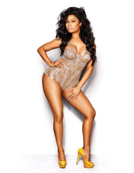 nicki-minaj-legs-yellow-heels