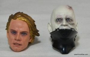 SH Figuarts Luke Skywalker figure review - alternate head and Vader head