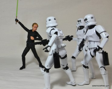 SH Figuarts Luke Skywalker figure review - attacking Stormtroopers