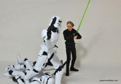 SH Figuarts Luke Skywalker figure review - fighting Stormtroopers