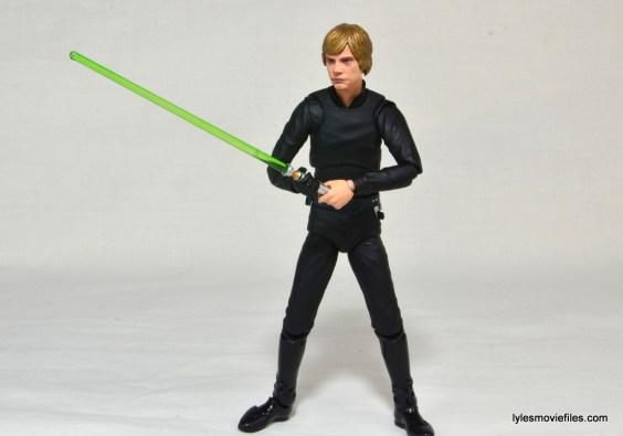 SH Figuarts Luke Skywalker figure review - lightsaber wide