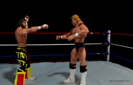 WWE Elite 38 Macho Man Randy Savage review -going after Luger