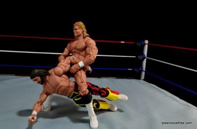 WWE Elite 38 Macho Man Randy Savage review -Lex Luger grabbing the arm