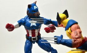 Marvel Legends Captain America review - Cap Wolf vs Wolverine