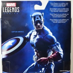 Marvel Legends Captain America review -bio card